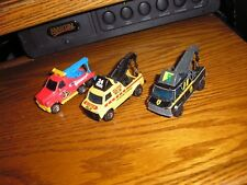 RARE Vintage Lot of 3 Matchbox Breakdown Van Heavy Duty Tow Trucks Free Shipping