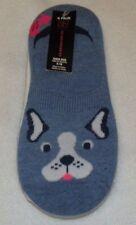 New Womens shoe size 4-10 No Boundaries Liner Socks Blue White Dog Polka Dot
