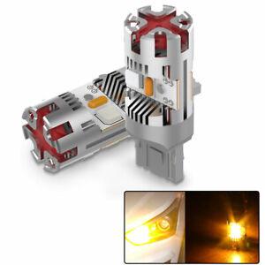 Vehicle Free Error Tail Light Turn Signal Brake LEDs T20/7440/W21W For Toyota x2
