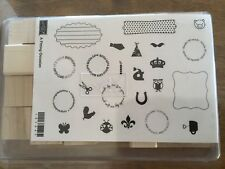 """Stampin' Up! """"A Fitting Occasion"""" Wood Mount Stamp Set (Retired)"""