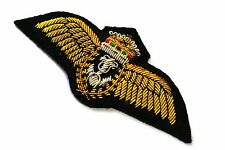 ROYAL NAVY Fleet AIR ARM BULLION WIRE PILOTS WING KING CROWN BRAND NEW 01