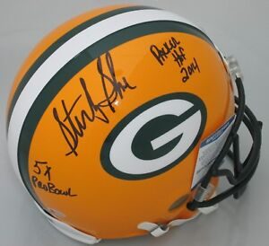 Packers STERLING SHARPE Signed Authentic Helmet AUTO w/ 5 x PB & PHOF - Beckett