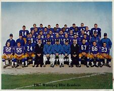 1967 CFL Winnipeg Blue Bombers Team Picture Color 8 X 10 Photo Picture Free Ship