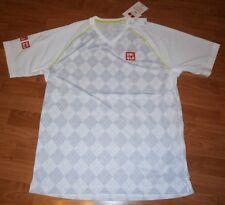 UNIQLO x Kei Nishikori 2015 U.S. Open DRY-EX V-Neck Athletic Shirt S White *NWT*