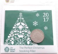 2017 Royal Mint Christmas Tree BU £5 Five Pound Coin Pack Sealed