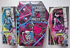 NEW 3 pc Monster High  DRACULAURA FRANKIE STEIN & MH Doll Carrying Case