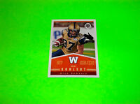 WINNIPEG BLUE BOMBERS RORY KOHLERT OPEE CHEE UPPER DECK CFL FOOTBALL CARD # 47