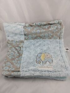 """Blankets & Beyond Elephant Green Baby Blanket About 30"""" x 30"""""""