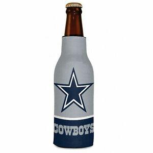 Insulated 12 oz. Football Dallas Cowboys Beer Bottle Cooler Koozie Zip-Up