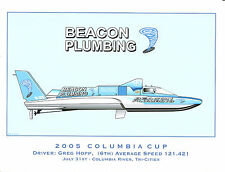 2005 Beacon Plumbing Hydroplane Art Print - by R.J. Tully
