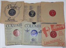 Lot of 6 Vintage 78s Records Columbia Victor Mercury Tempo
