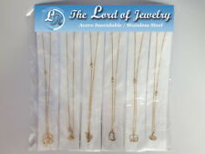 Lot of 12 Stainless Steel Necklaces with Pendants for Women. Wholesale price.