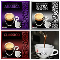 40 Italian Espresso Pods ESE. Karoma Mix  (Arabica, Napoletano X-Strong, Decaff)