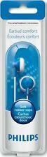 PHILIPS Blue Earbud Headphones Soft Rubber Caps - SHE2100BL