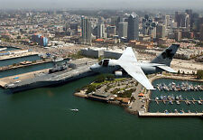 """S-3B Viking Aircraft Assigned to """"Shamrocks"""" Flies over Navy Pier at San Diego"""
