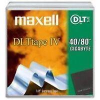 lot de 5 Maxell 7158 DLT TAPE TM IV 40/80GB Cartridge NEW