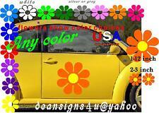 Extra LARGE Flower 12inch 3 SET Orange yelow CENTER Daisy Car Truck hood van USA