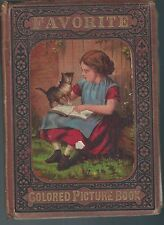 Favorite colored picture book 1876 delicate vintage hardcover book amazing art!