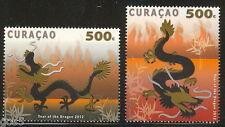 Curacao  2012 year of the dragon    postfris/mnh us