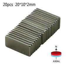 New 20Pcs Super Strong 20x10x2mm Block Fridge Magnets Rare-Earth Neodymium N52