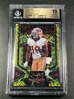 DEEBO SAMUEL 2019 PANINI SELECT #10 ROOKIE SELECTIONS GOLD PRIZMS /10 RC BGS 10