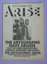 1978 Original Music Press Magazine Advert, Abyssinians - Arise Album