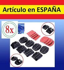 8x Pegatina + Soporte CASCO BICI MOTO Camara accesorios GOPRO HERO SJ4000 SJCAM