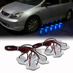Strands Under Car Brabus Style 90-LED Puddle Lights Blue Underglow Universal