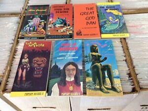 Fantasy Reader Complete Set of #1-#7 Burroughs Machen Chambers Liebscher Evans