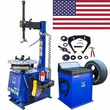 1New 1.5HP Tire Changer Wheel Changers Machine Combo Balancer Rim Clamp 560- 680