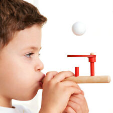 Wooden Flute BLOWING Balance FLOATING Ball Game Kids Children's Educational Toys