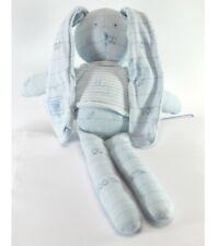 """Doudou Lapin """"bleu ciel"""" oiseaux Petit Bateau 28 cm"""
