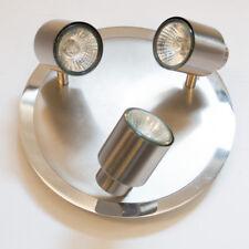 Satin Nickel 3 Light Spotlight Plate Modern Home Lighting Clearance Litecraft