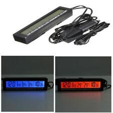 3 in 1 LED Digital Auto 12V/24V Innen/Außen Thermometer Spannungsmesser Uhr KFZ