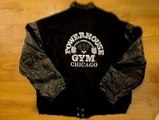 Powerhouse Gym Chicago Vintage Leather Sleeves Jacket Men's Size M
