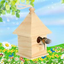Wild Wooden Tree Hanging Bird House Birdhouse Feeding Feeder Station Garden