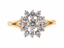 Pave 0,80 Cts Runde Brilliant Cut Diamanten Verlobungsring In Solides 14K Gold