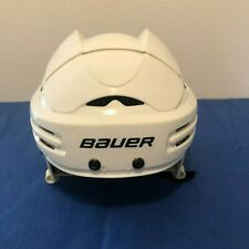 Bauer BHH5100 Ice & Roller Hockey Helmet WHITE Size Medium ~ Pre-Owned!