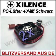 2x [Xilence] 40mm Gehäuse-Lüfter/ Fan →4cm Case PC CPU Cooler XPF40 Kühler