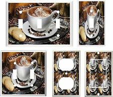 HOT CUP OF COFFEE JAVA  IMAGE  HOME DECOR  LIGHT SWITCH COVER PLATE