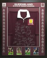 Blazed In Glory - QLD State Of Origin Legends - NRL Signed & Framed Jersey