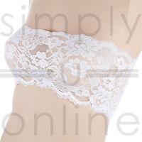 Sexy Lace Strapless Seamless Bandeau Boob Tube Bra Top Underwear Sizes 8 - 12
