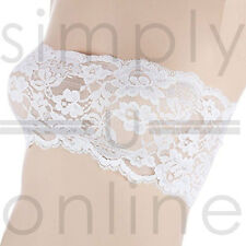 Sexy Lace Strapless Seamless Bandeau Boob Tube Bra Top Underwear Sizes 8 - 12