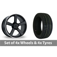 """4 x 18"""" Fox Racing MS003 Alloy Wheel Rims and Tyres -  245/45/18"""