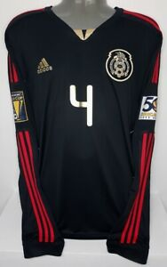 ADIDAS MEXICO LONG SLEEVE LS COPA ORO 2011 GOLD MARQUEZ XL ORIGINAL JERSEY SHIRT