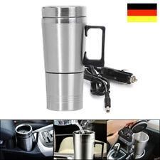 12V Edelstahl Elektrisch Wasserkocher Teekocher Heizung für Reise KFZ Auto 500ml