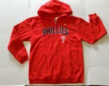 NEW Philadelphia Phillies Majestic Full Zip Distressed Jacket Boys Girls YXL