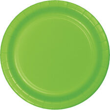 "24 Fresh Lime Green Wedding Birthday Party Tableware 7"" Paper Dessert Plates"