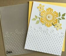Stampin Up retired, MIXED BUNCH Stamps, Dotted Embossing Folder & BLOSSOM PUNCH