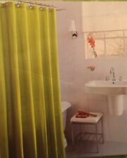 "NEW fabric SHOWER CURTAIN 72""x72"" GREEN 100% COTTON grommets HOME Target"